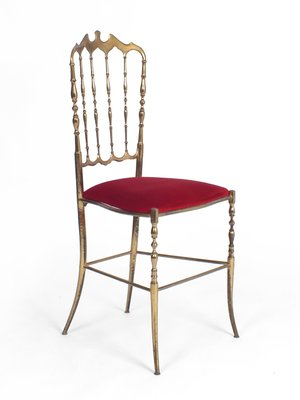 vintage red velvet chair from chiavari 1950s for sale at pamono
