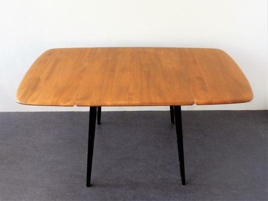 English Wooden Drop Leaf Dining Table By Lucian Ercolani For Ercol, 1960s 1