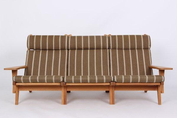 Incroyable GE375 Oak U0026 Wool 3 Seater Sofa By Hans J. Wegner For Getama 1