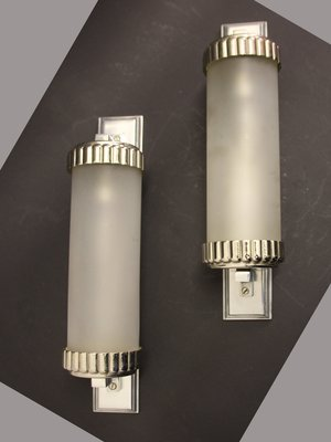 French Art Deco Wall Lights by Henri Petitot, 1930s, Set of 2 for ...