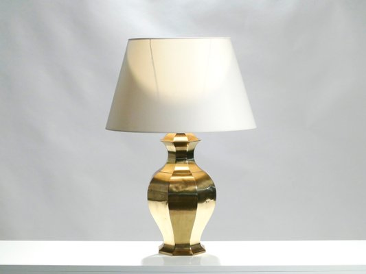Large Brass Table Lamps 1970s Set Of 2 For Sale At Pamono