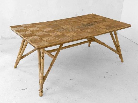 Mesa de comedor grande de Adrien Audoux & Freda Minet, años 50 en ...
