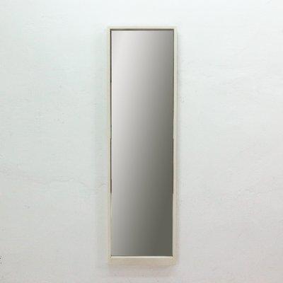Specchio da parete grande con cornice bianca, anni \'60