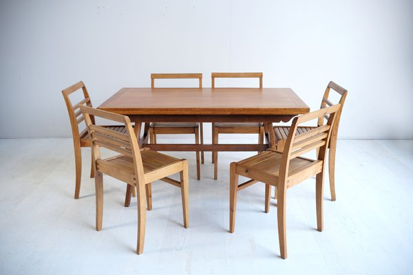 Mid Century Oak Dining Table By René, 50s Dining Room Furniture
