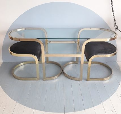 Genial Vintage Nesting Stools And Table By Milo Baughman For The Design Institute  Of America 1