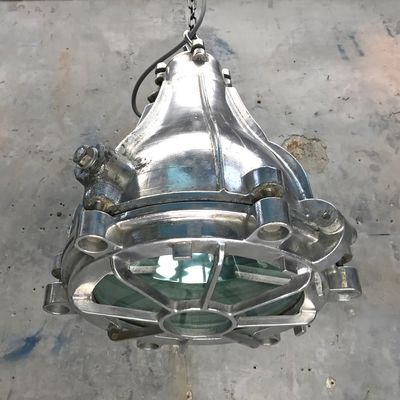 Industrial Japonesa Colgante Vidrio1978 Aluminio Y Fundido Lámpara De D9WYIeH2E