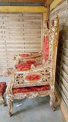 Antique Italian Gilt Thrones, Set Of 2