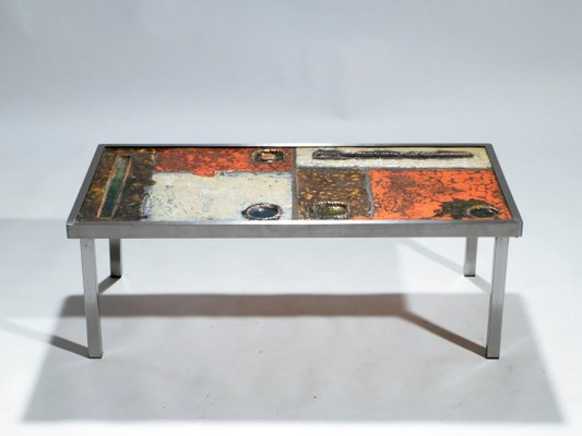 Ceramic Coffee Table By Robert Jean Cloutier