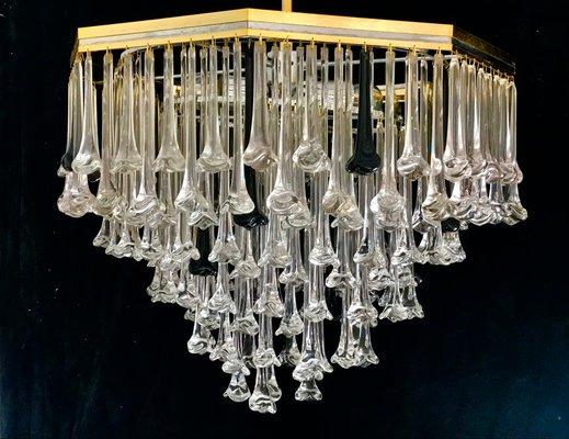 Kronleuchter Vintage Silber ~ Vintage kronleuchter mit hängenden glasblumen von venini er