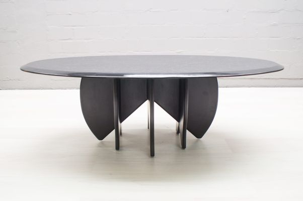 Black Cast Concrete Coffee Table S For Sale At Pamono - Oval concrete coffee table