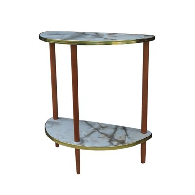 Half Rond Side Table.Mid Century Semi Circle Side Table 1960s