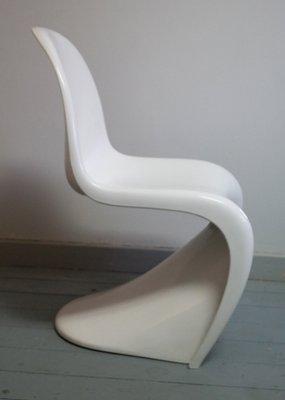 White Panton Chairs By Verner Panton For Herman Miller, 1976, Set Of 2