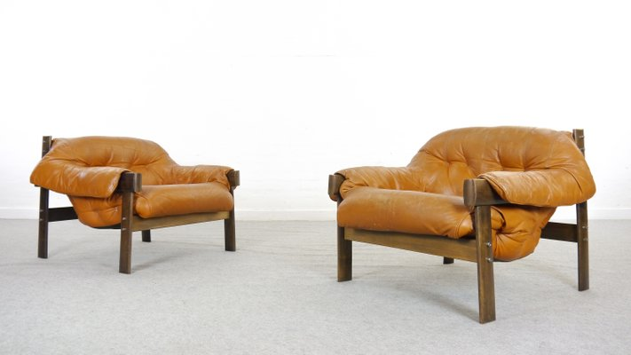 Vintage Model MP 041 Lounge Chairs By Percival Lafer, Set Of 2 1