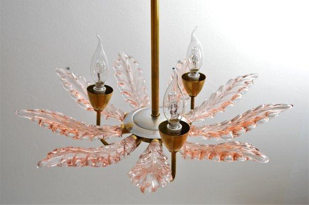 Lampadario Gocce Rosa : Lampadario art déco in vetro di murano rosa anni in vendita