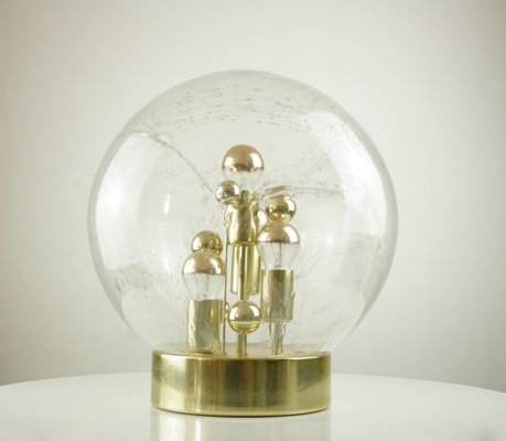 Large Space Age Glass Ball Table Lamp from Doria Leuchten, 1970s