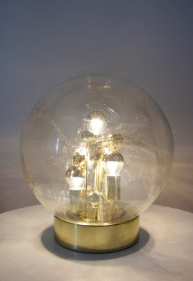 Large Space Age Glass Ball Table Lamp From Doria Leuchten, 1970s 2