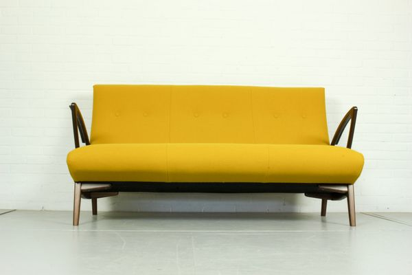 canap jaune design pays bas 1960s 1 - Canape Bas