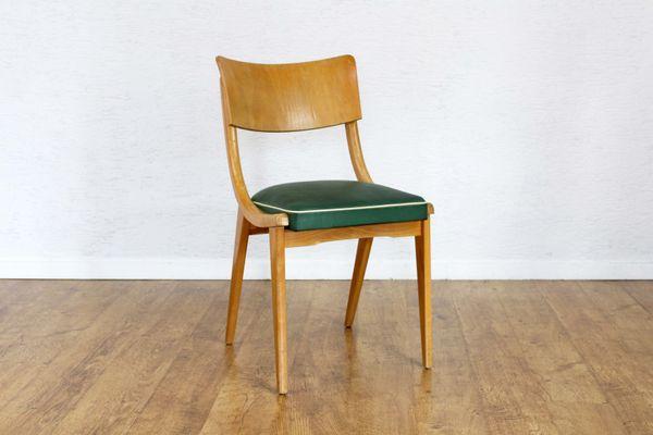 Skandinavischer Stuhl skandinavischer stuhl aus holz & kunstleder, 1950er bei pamono kaufen
