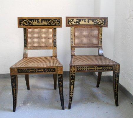 Cool Mid Century Egyptian Revival Klismos Chair 1950S Set Of 2 Short Links Chair Design For Home Short Linksinfo