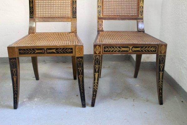 Fabulous Mid Century Egyptian Revival Klismos Chair 1950S Set Of 2 Short Links Chair Design For Home Short Linksinfo