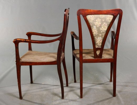 English Art Craft Armchairs 1900s