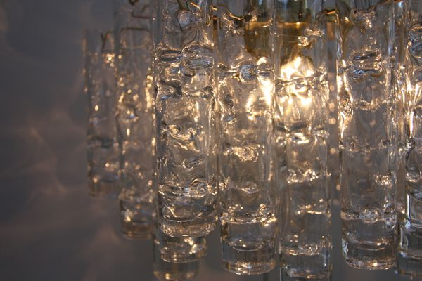 Vintage chandelier with 24 murano glass tubes from doria leuchten vintage chandelier with 24 murano glass tubes from doria leuchten 1960s 13 aloadofball