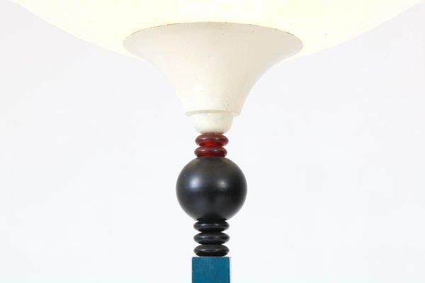 Art Deco Amsterdam School Floor Lamp With Milk Glass Shade 1930s