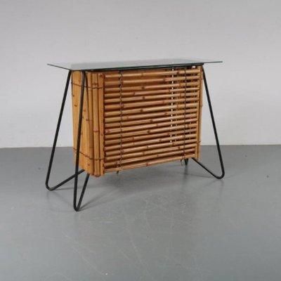 Charmant Dutch Rattan Cabinet, 1950s 2