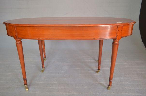 Tavolo ovale biedermeier allungabile inizio xix secolo in vendita