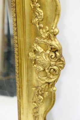Large Antique Baroque Gold Plated Wall Mirror For Sale At Pamono