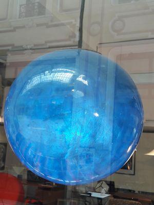e2db886f3 Lámpara colgante francesa de fibra de vidrio en azul