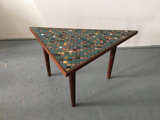 Vintage Wood U0026 Mosaic Coffee Table 2