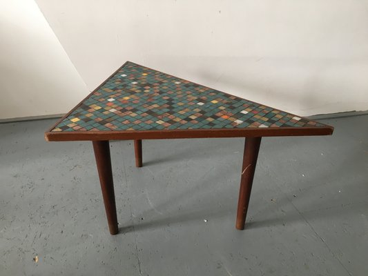 Superieur Vintage Wood U0026 Mosaic Coffee Table