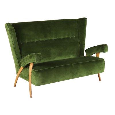 Awesome Italian Beech Velvet Sofa 1950S Machost Co Dining Chair Design Ideas Machostcouk