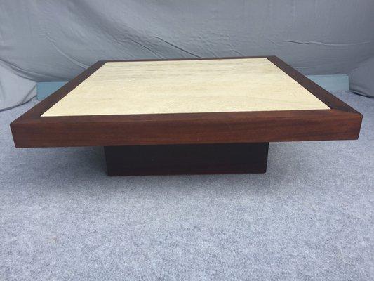 Et Table En Basse Bois TravertinFrance1960s UVpLSGMqz