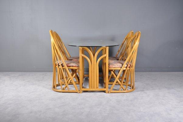 Tavolo E Sedie Anni 70.Tavolo E Sedie In Bambu Francia Anni 70 In Vendita Su Pamono