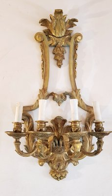 Appliques Murales Style Vintage Renaissance En BronzeItalieSet De 2 QdCoeExBrW