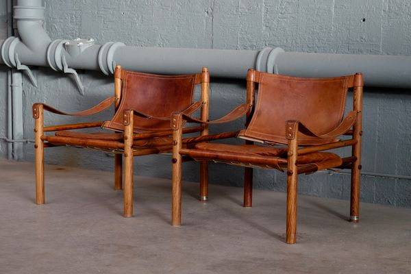 Delicieux Sirocco Safari Chairs By Arne Norell For Arne Norell AB, 1960s, Set Of 2