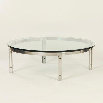 Table Basse Ronde Verre.Table Basse Ronde Vintage En Verre De Metaform