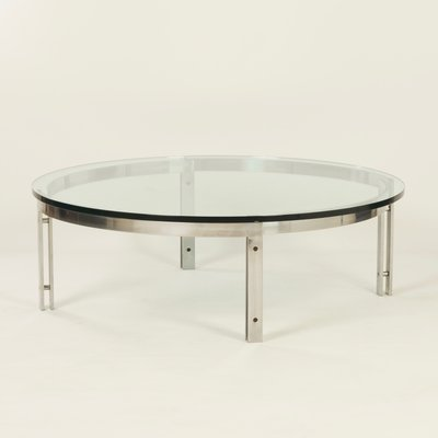 Vintage Round Gl Coffee Table From Metaform