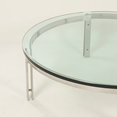Awe Inspiring Vintage Round Glass Coffee Table From Metaform Home Remodeling Inspirations Basidirectenergyitoicom