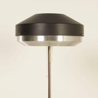 Black Chrome Floor Lamp From Hiemstra Evolux 1960s 6