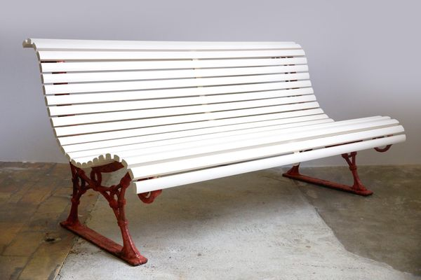 Park Or Garden Bench With Cast Iron Feet, 1890s 1
