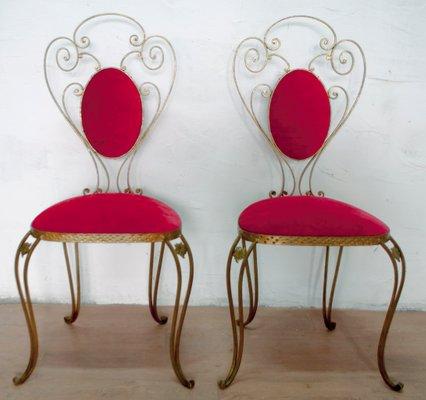 Sedie in ferro battuto di Pier Luigi Colli, Italia, 1955, set di 2