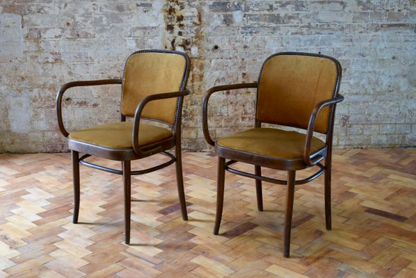 Merveilleux Vintage Bentwood Cafe Chairs By Josef Hoffman, Set Of 4 1