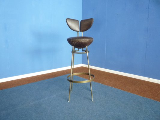Terrific Mid Century Leather Metal Bar Stools Set Of 4 Forskolin Free Trial Chair Design Images Forskolin Free Trialorg