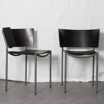 Lilla Hunter Stackable Chairs By Philippe Starck For XO, 1988, Set Of 2 1