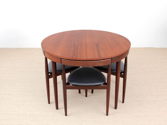 MidCentury Teak Dining Table Chairs By Hans Olsen For Frem - Coffee table with 4 chairs