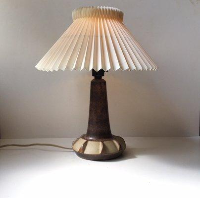 Danish Modern Ceramic Table Lamp From Michael Andersen Son 1970s