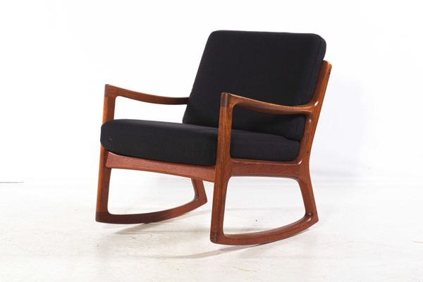 Teak Rocking Chair By Ole Wanscher For France Søn